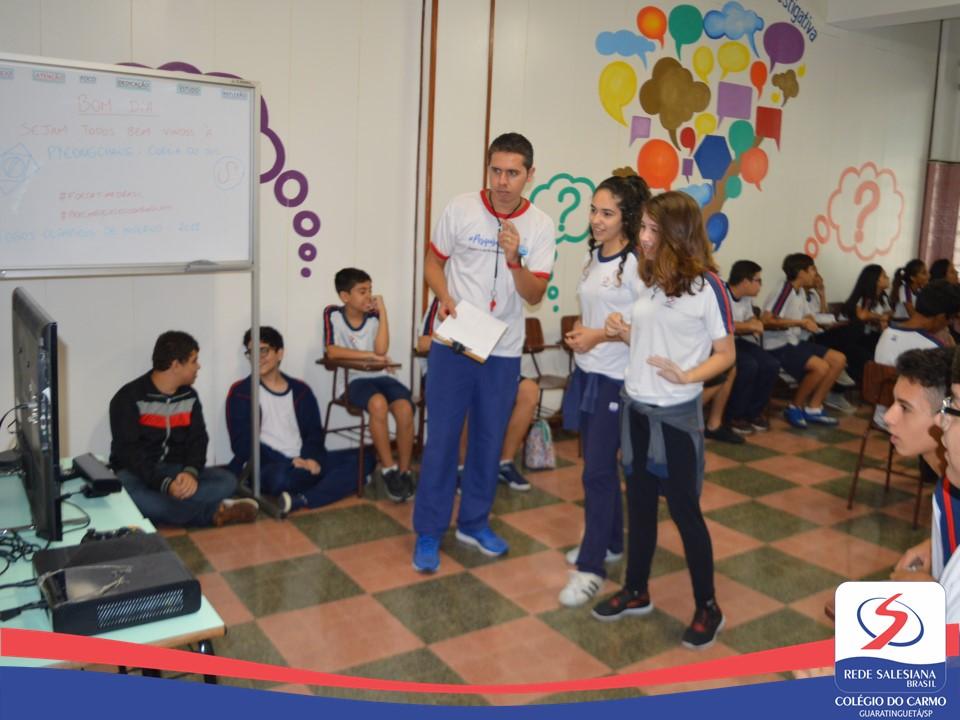 Entre o real e o digital: estudantes realizam projeto sobre os Jogos Olímpicos de inverno e fazem interação com atleta direto da Coreia do Sul