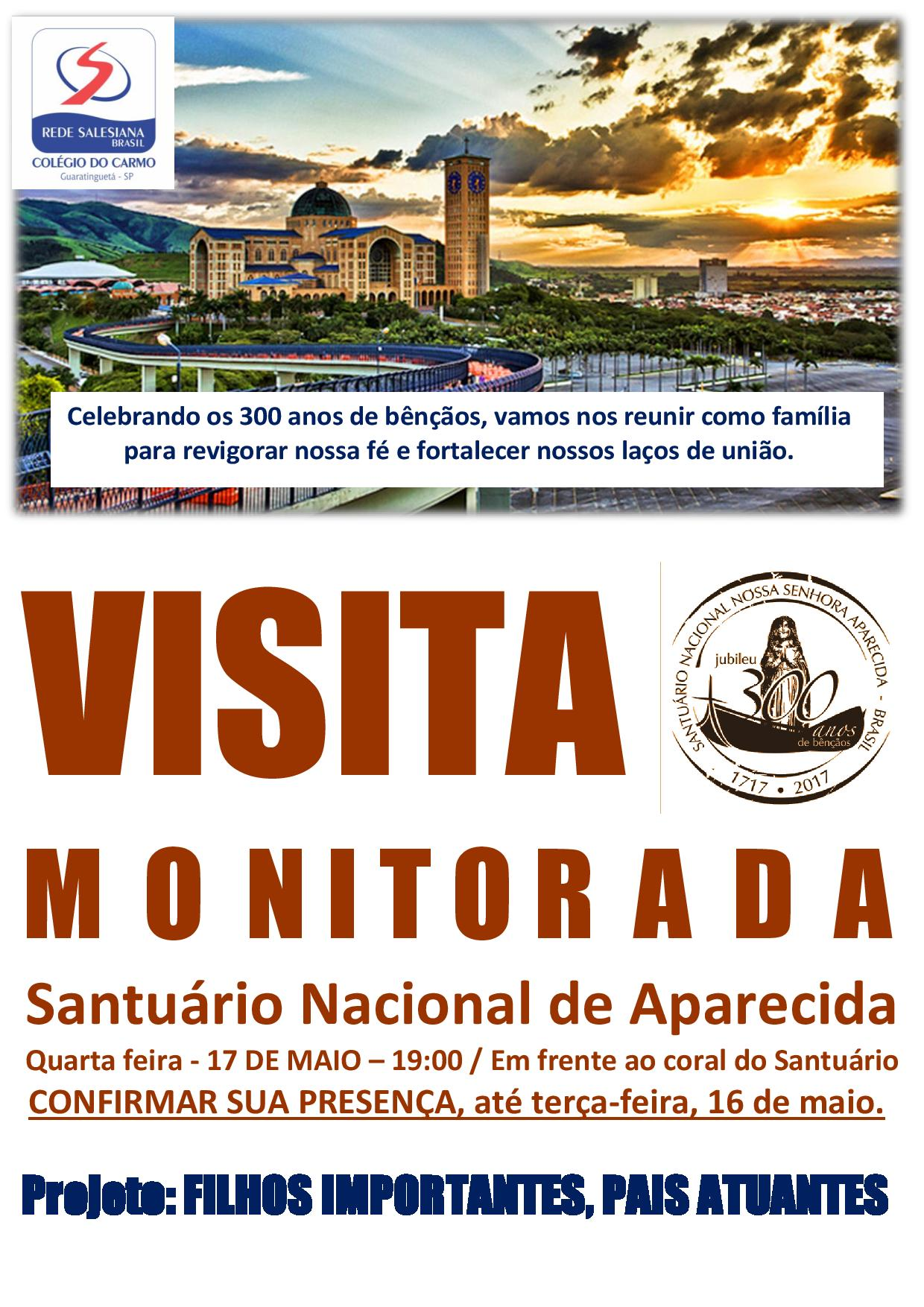 Projeto com pais/responsáveis proporciona visita monitorada ao Santuário Nacional