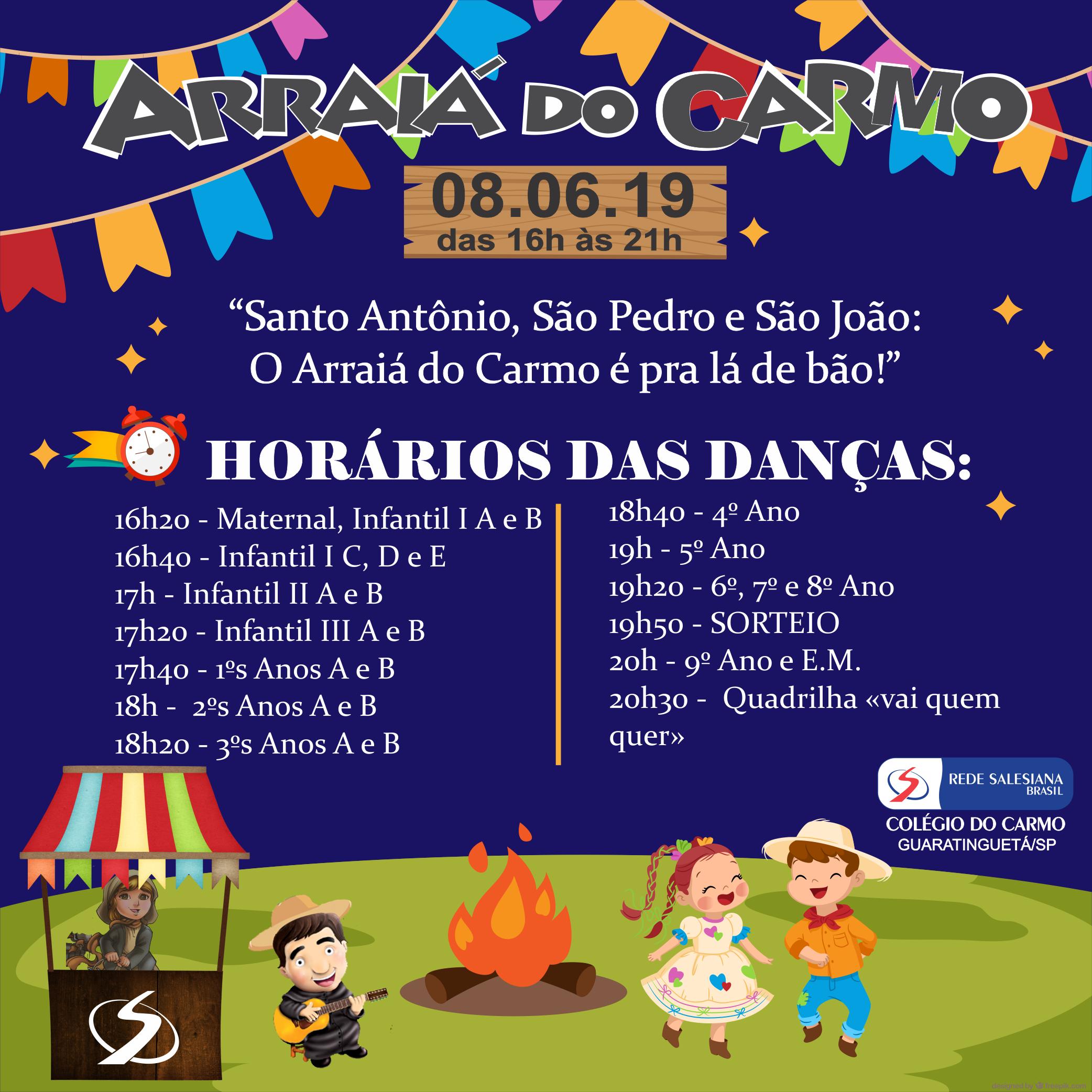 Festa Junina: Horários das danças!