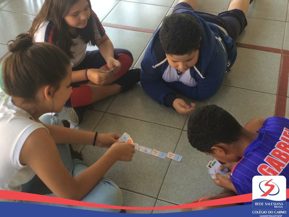 Alunos do 5º ano realizam o Desafio de Frações