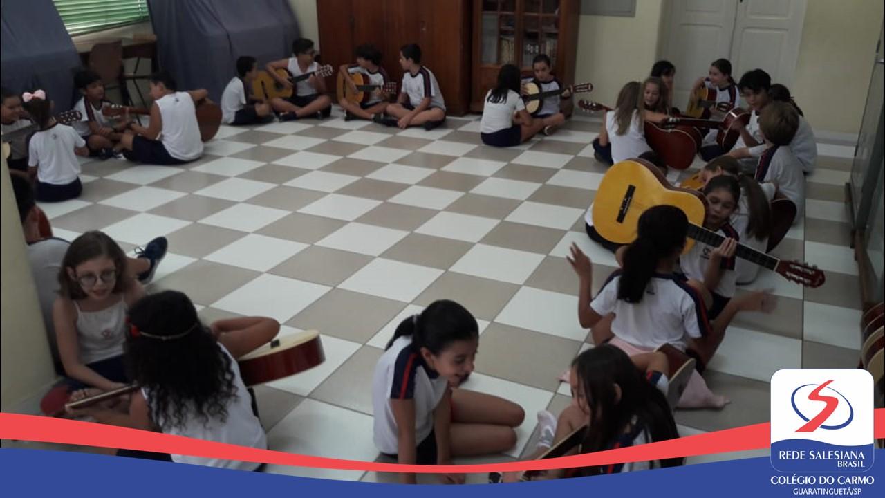 Aulas de musicalização no Ensino Fundamental I