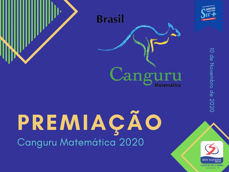Estudantes do Carmo são premiados no Canguru de Matemática 2020
