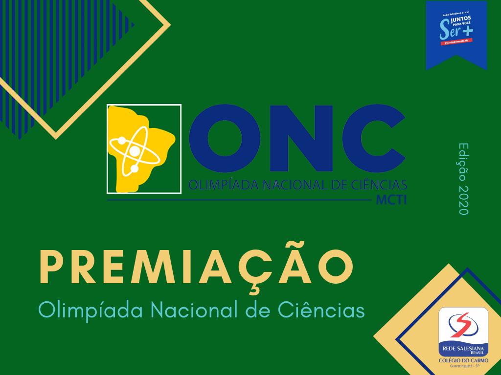 Olimpíada Nacional de Ciências: Estudantes são premiados em todas as categorias