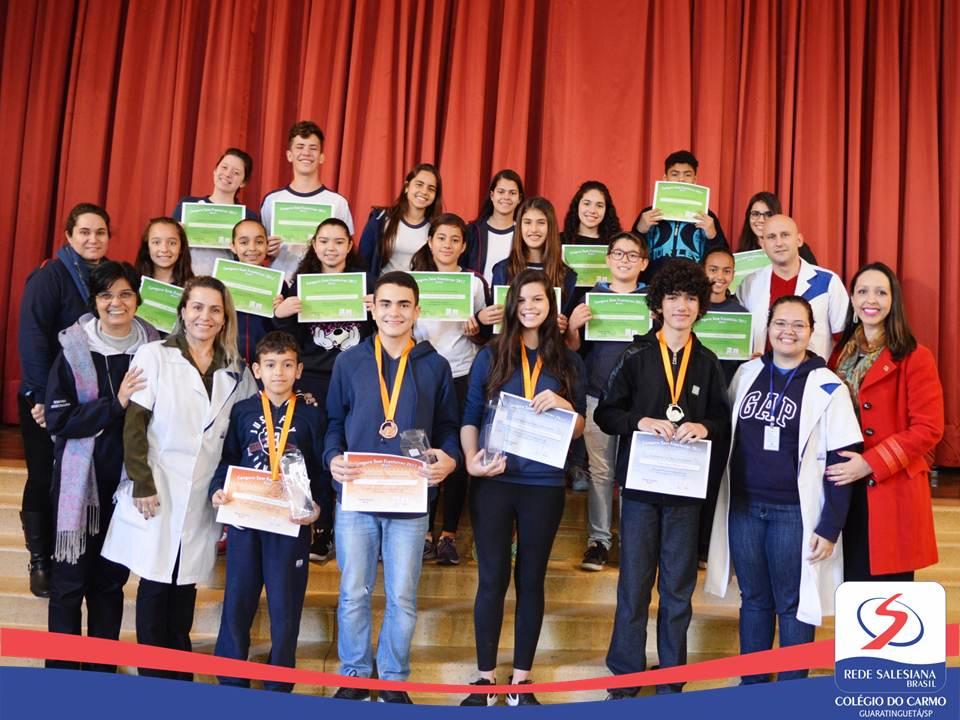 Alunos são medalhistas do Canguru de Matemática 2017