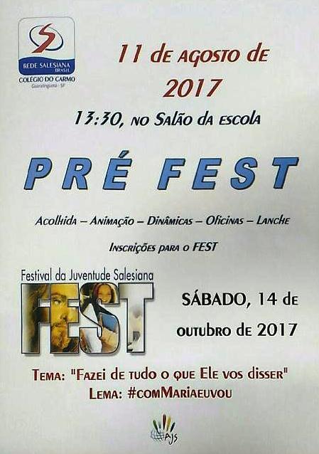 Pré-fest acontece no dia 11 de agosto